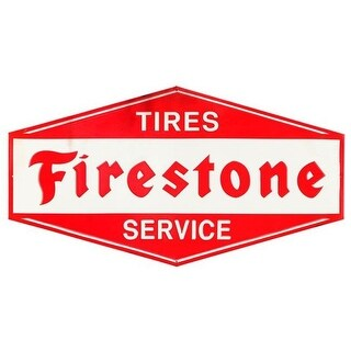 Firestone 90169073-S Tires Service Rustic Embossed Tin Sign
