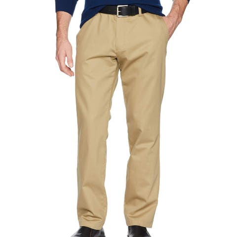 Dockers Mens Khaki Pant Beige Size 38x30 Athletic Fit Stretch Flat Front