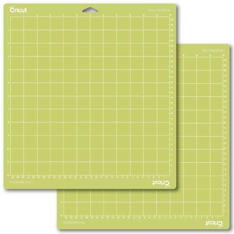 """Standard Grip 2 Pack Cricut Cutting Mat 12""""X12""""-New Green Expression Sticky Mat"""