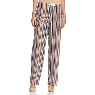 Theory Womens Winszlee Casual Pants Silk Striped Multi L