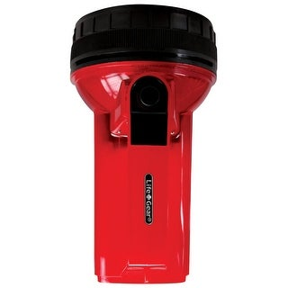 Life Gear LG114 4-in-1 Glow LED Spotlight with Storage, Red