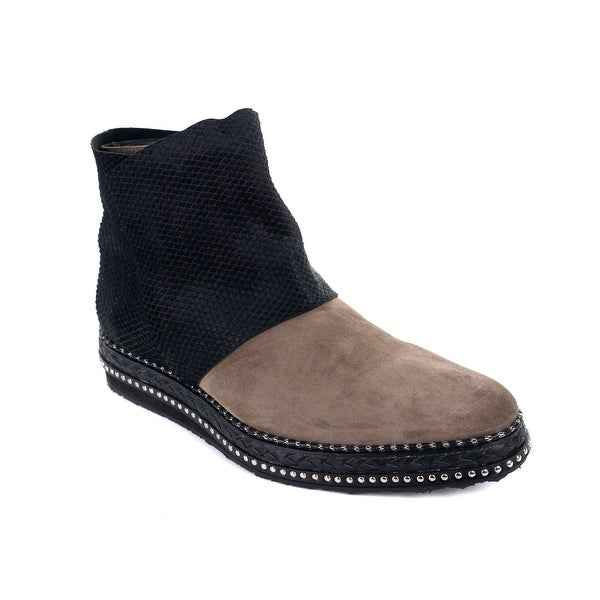 e5c0c9d0b11 Shop Roberto Cavalli Mens Suede Pony Hair Black Brown Ankle Boots ...