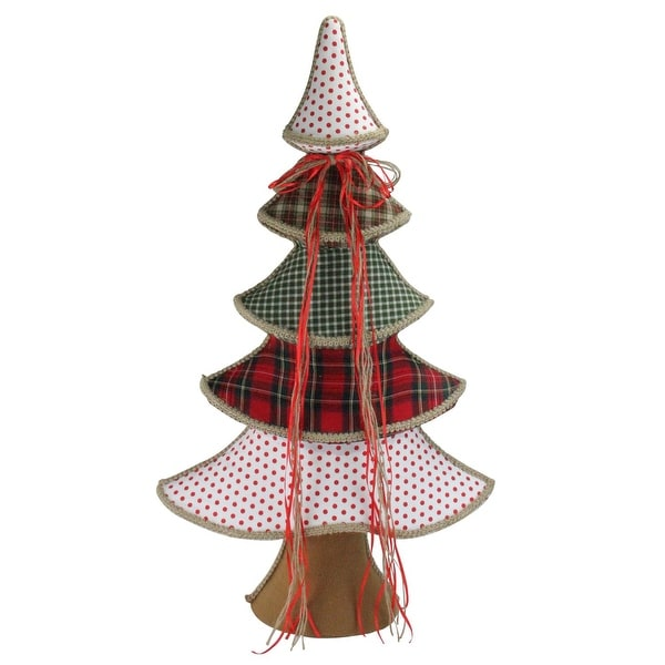 "31.5"" Holiday Moments Red, Green and White Whimsical Christmas Tree Decoration"
