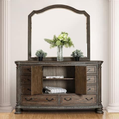 Furniture of America Brez Brown 2-piece Dresser and Mirror Set