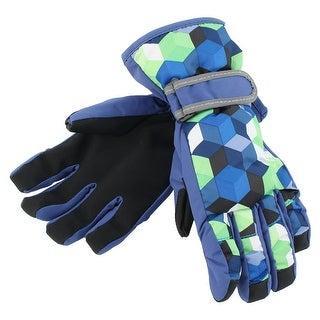 Outdoor Motorcycle Snowmobile Snowboard Ski Gloves Athletic Mittens Blue S