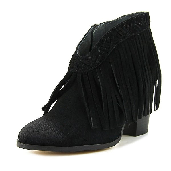 Seychelles World Tour Women Round Toe Suede Black Ankle Boot