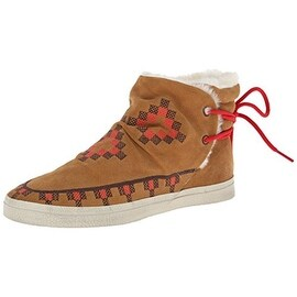 Kim & Zozi Womens Native Suede Embroidered Fashion Sneakers