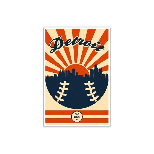 Detroit Tigers Vintage MLB Poster Matte Poster 16x24
