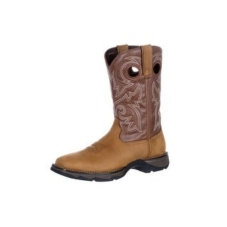 Durango Western Boots Womens Rebel Waterproof Pull Brown