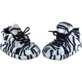 Happy Feet - Snooki Zebra Print Baby Booties and Blanket Set - snooki zebra print