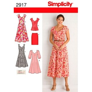 Simplicity Misses'/Women's Dress In Two-10 12 14 16 18 - 10 12 14 16 18