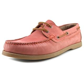 Moods of Norway Aslak Men Moc Toe Suede Pink Boat Shoe