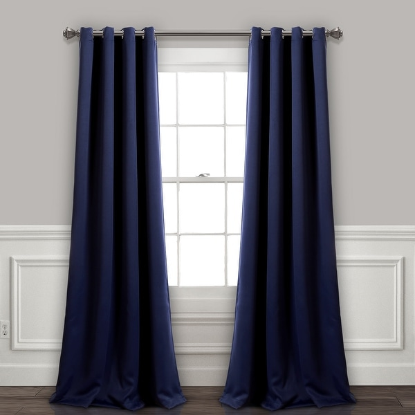 Lush Decor Insulated Grommet Blackout Curtain Panel Pair. Opens flyout.