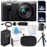 Panasonic LUMIX 4K DMC-ZS60 Digital Camera (Silver) (International Model) No Warranty + DMW-BLE9 Replacement Battery Bundle