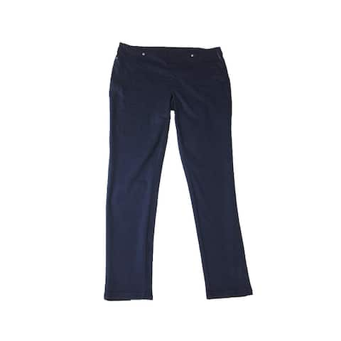 Style & Co. Navy Plus Size Pull-On Twill Leggings 0X