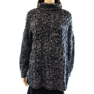 Cotton Emporium NEW Black Women's Size Medium M Turtleneck Sweater