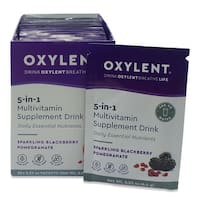 Oxylent 5-in-1 Multivitamin Sparkling Blackberry Pomegranate Supplement Drink (Box of 30)