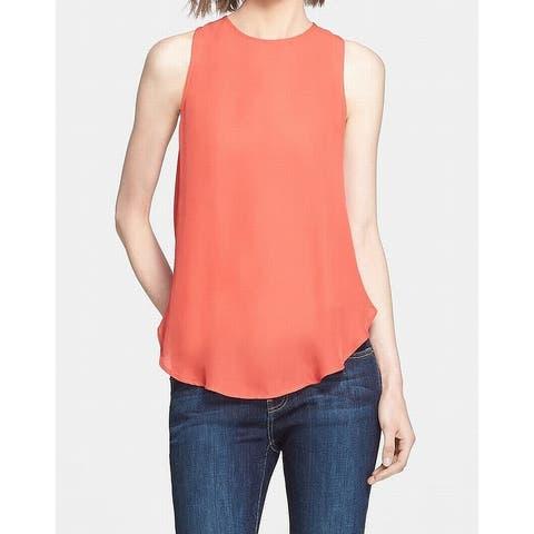 Haute Hippie Women's Red Size XS Draped Back Tank Cami Silk Top