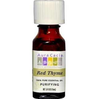 Aura Cacia Essential Oil Thyme Red (Thymus Vulgaris) 0.5-ounce