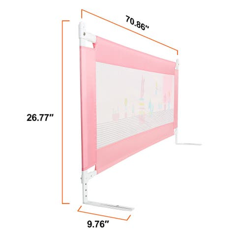 Bed Rail, Safety Guardrail Supports Vertical Lifting for Toddlers Infants- 70.86 ''x 26.77 '' inches One piece - S