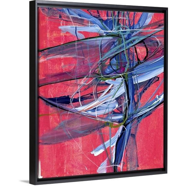 """The Journey"" Black Float Frame Canvas Art"