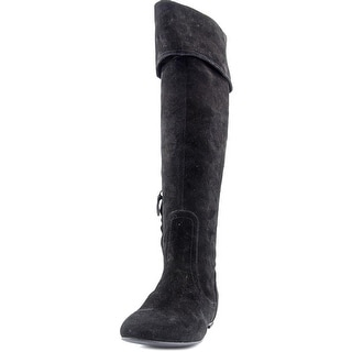 Cole Haan Sarafina Round Toe Suede Knee High Boot