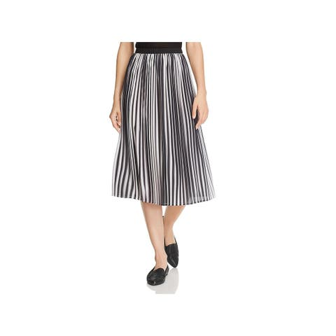 Eileen Fisher Womens Pleated Skirt Ombre Below Knee