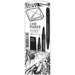 Black - Graphik Line Maker Set 3/Pkg