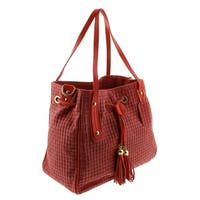 HS 2025 RO AGAPE Coral Red Leather Tote/Shopper Bags - 13-11-6