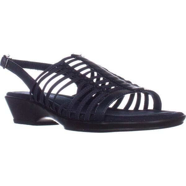 Easy Street Allure Huarache Sandals, Navy - 7.5 us