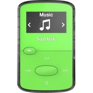 """SanDisk SDMX26-008G-G46G SanDisk SDMX26-008G-G46G 8 GB Flash MP3 Player - Green - FM Tuner - Battery Built-in - microSD - AAC,"