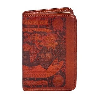Scully Planner Old Atlas Print Leather Personal Agenda 1007-16