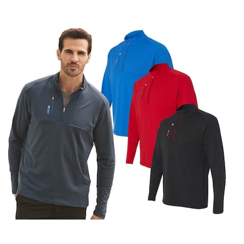 Adidas Athletic Quarter-Zip Jacket, Assorted Colors Black Red Royal