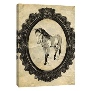 "PTM Images 9-105874  PTM Canvas Collection 10"" x 8"" - ""Framed Paint Horse"" Giclee Horses Art Print on Canvas"