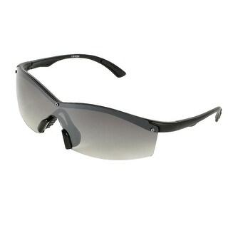 Unique Bargains Black Half Rim Colored Lens Sports Sunglasses Eyeglasses for Ladies Men