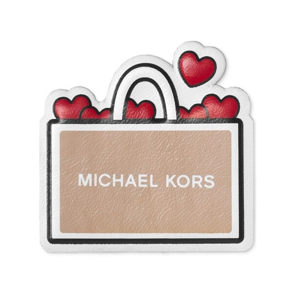 4fde9bbbfe46 Shop Michael Kors Womens I Love Shopping Leather Stickers Hearts Stick On -  Free Shipping On Orders Over $45 - Overstock - 20104977