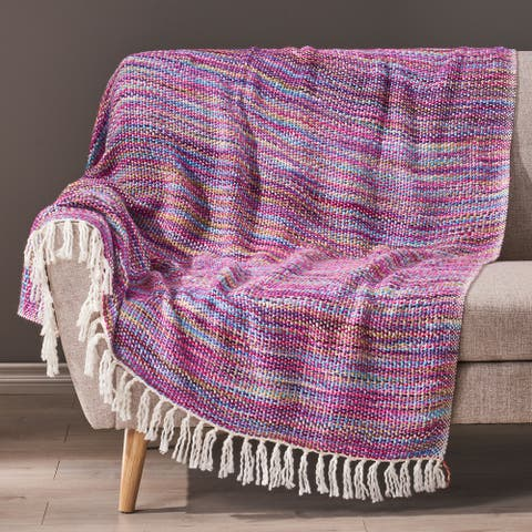 Dymond Boho Fabric Throw Blanket by Christopher Knight Home