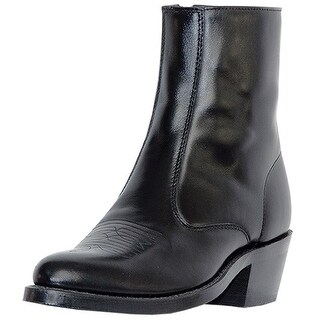 Laredo Western Boots Mens Leather Long Haul Zip Side Black 62001