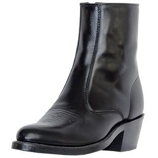 Laredo Western Boots Mens Leather Long Haul Zip Side Black