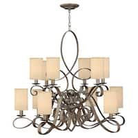 Fredrick Ramond FR42508 12 Light 2 Tier Chandelier from the Monterey Collection