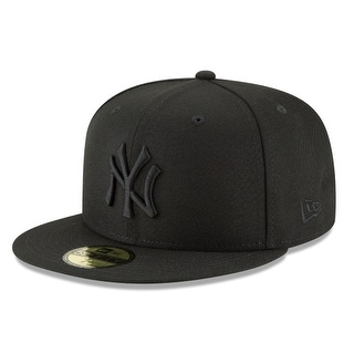 first rate 3b5eb 184b9 Shop New Era Mens Mlb Basic Ny Yankees 59Fifty Fitted Cap, Black Black - On  Sale - Free Shipping On Orders Over  45 - Overstock - 20873747
