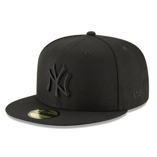 New Era Mens Mlb Basic Ny Yankees 59Fifty Fitted Cap, Black/Black (More options available)