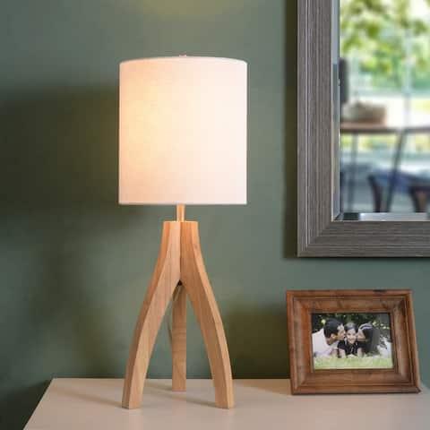 Nicole Natural 3-way Wood Tripod Table Lamp