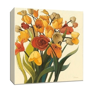 "PTM Images 9-153225  PTM Canvas Collection 12"" x 12"" - ""Comogli Colore"" Giclee Flowers Art Print on Canvas"