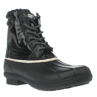 MICHAEL Michael Kors Easton Bootie Short Logo Rainboots - Black/White