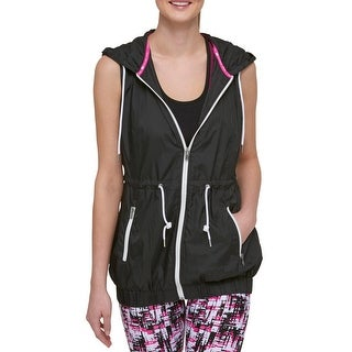 Tommy Hilfiger Womens Vest Hooded Packable
