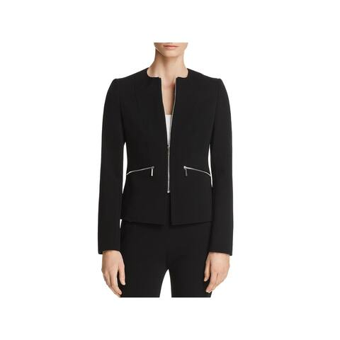 Hugo Boss Womens Jazulara Collarless Blazer Textured Suit Separates