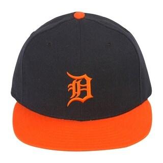 New Era Original Detroit Tigers Wool Fitted Hat - Navy/Orange