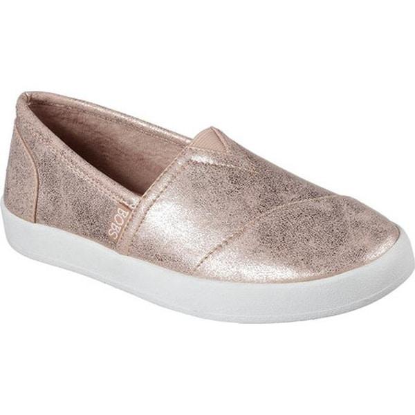 f867ef485f7 Skechers Women s BOBS B-Loved Liquid Sparkle Slip-On Sneaker Rose Gold