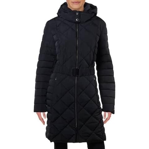 Tommy Hilfiger Womens Puffer Coat Winter Midi